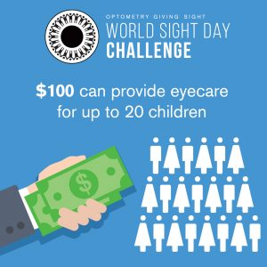 $100 can provide eyecare for up to 20 children