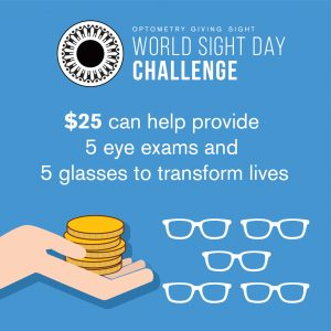$25 can help provide 5 eye exams and 5 glasses to transform lives