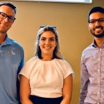 Travis Page, Melissa Casanova, and Dr. Ankur Gupta at the Partners in Hearing Event