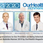 3 VEI providers were named for the best bedside manner award of 2019 for OurHealth