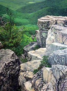 Donna Frostick - Chimney Rocks - 48x36